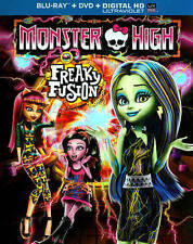 MONSTER HIGH FREAKY FUSION New & Factory-Sealed Blu-Ray + DVD + Digital HD