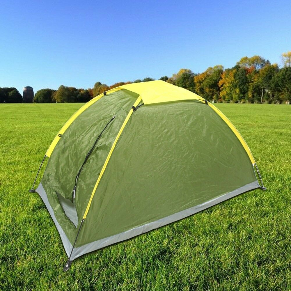 Waterproof TwoPersonsCamping Tent Single Layer Tent Beach Tent Outdoor UV-predec