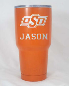 Details about Oklahoma State OSU 30 oz cup YETI engraved free shipping  orange black