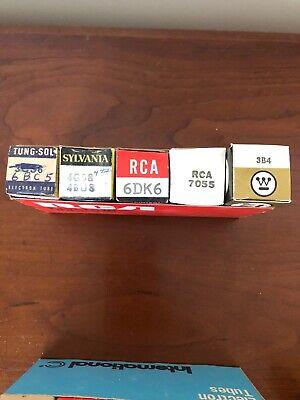 SLEEVE  OF  5   RCA  3B4 TUBES