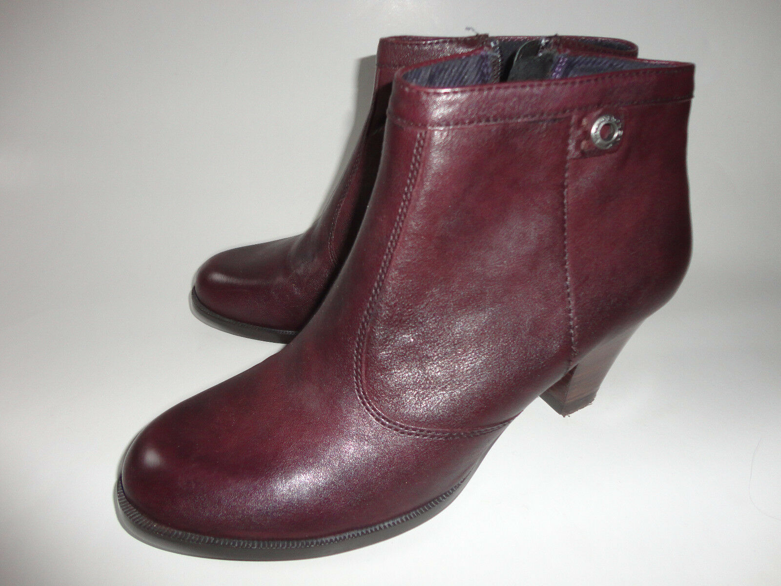 Vagabond Damen Leder- Jacke Stiefel Stiefelette Schuhe Gr.41 weinrot zu Jacke Leder- 28f4f7