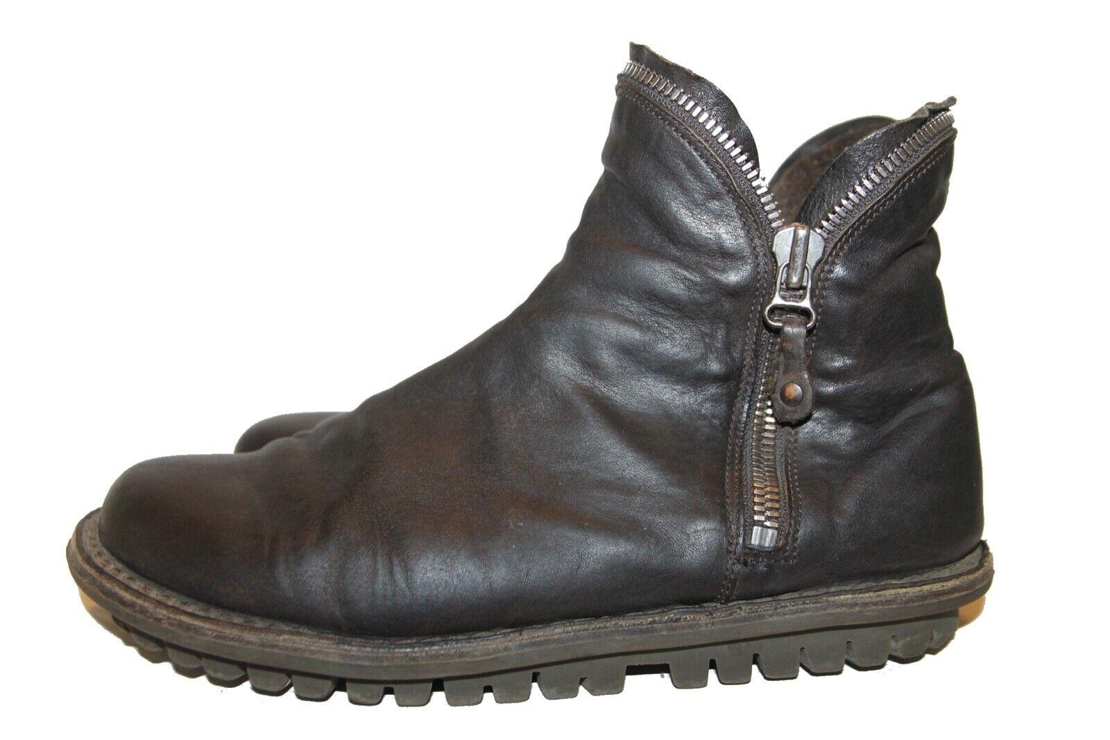 Trippen Stiefel Diesel m Gr. 40 Leder Stiefel dunkelbraun Chelsea
