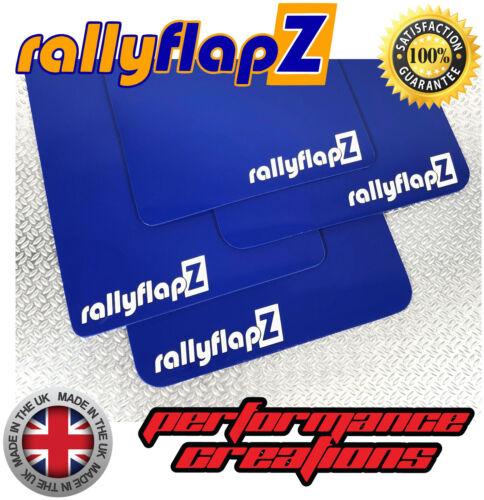 RallyflapZ Ford FIESTA MK7 Inc ST180 Bavettes Bavettes STD Bleu RF Blanc