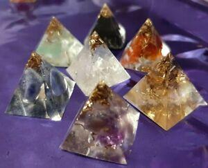 7 Piramidi dei 7 CHAKRA Energia Quarzo orgone wicca tower buster piramide magia