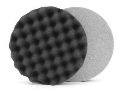 1 X Nero Waffle Spugna 15.2cm Dispositivo Da Rotante Pulizia Dischi Leggero