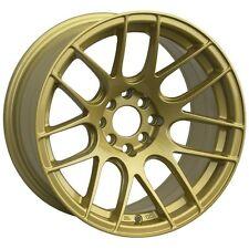 17X7 XXR 530 WHEELS 5X100/114.3 +35MM 73.1 GOLD RIM FITS TOYOTA CAMRY 2002-2012