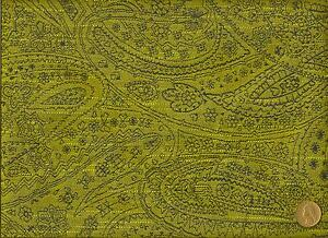 Woven Windsor Wasabi Paisley Lime Green And Blue Upholstery Drapery
