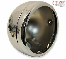 Lucas Chrome Headlight Shell and Rim 5.3/4 BSA, Triumph, Norton Models