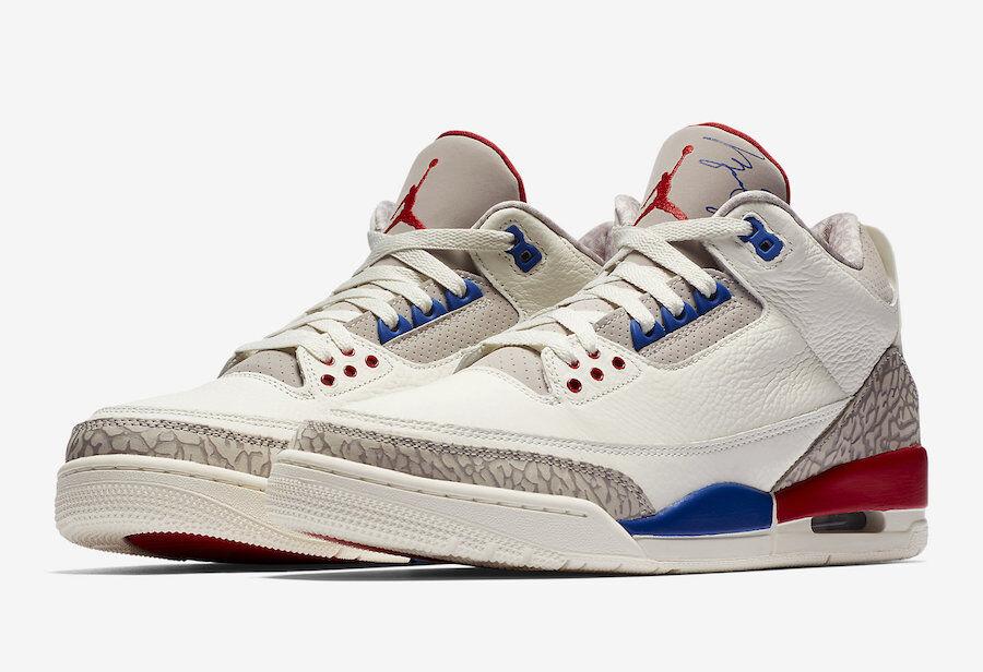 Jordan 3 retrair beneficenza volo internazionale partita di beneficenza retrair scarpe uomini 10,5 nuova 15d702