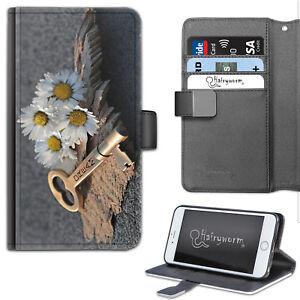 Dream-clave-Daisy-funda-de-telefono-Cuero-Billetera-Abatible-Estuche-Cubierta-Para-Samsung-Apple