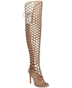 68c9a3a44fe Vince Camuto Women s KELIANA Over-The-Knee Caged Gladiator Sandals ...
