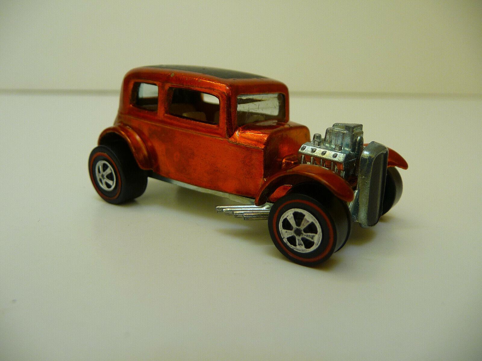 1968 heiß Wheels rotline Classic 32 Ford Vicky Orange Weiß Interior W  Button US