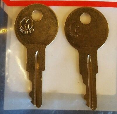 2 Meridian File Cabinet Keys Code Cut LL277 to LL327 Office Furniture Key