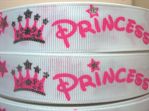 1 METRE WHITE PRINCESS RIBBON SIZE 7//8 HEADBANDS HAIR BOWS BIRTHDAY CAKE CRAFTS
