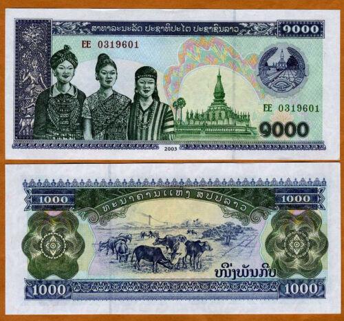2003 Lao // Laos P-32A UNC /> 3 Women 1000 Kip