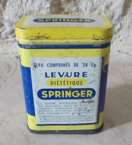 Ancienne-boite-Metal-Levure-SPRINGER-Publicite-Pharmacie-Collection-Tin-Box