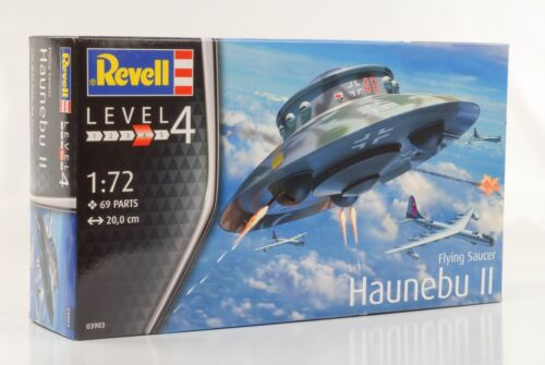 1:72 Flying Saucer Haunebu Level 4 plastic modelkit  Kit Bausatz Revell