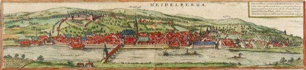 100% QualitäT Heidelberg - Gesamtansicht - Braun-hogenberg - Kolorierter Kupferstich 1572 Von Der Konsumierenden öFfentlichkeit Hoch Gelobt Und GeschäTzt Zu Werden