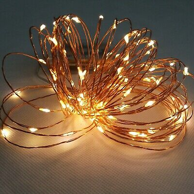 Tiny Christmas Lights.10m100led 3aa Batteries Tiny Copper Wire Fairy String Lights Lamp For Christmas Ebay
