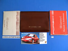 1989 Porsche (964) 911 Carrera 4 C4 Owners Manuals Drivers Books Pouch Set G194