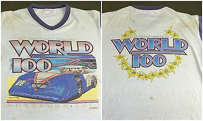 Vintage Mens M 1988 El Dorado Speedway Car Racing Annual World 100 T-Shirt