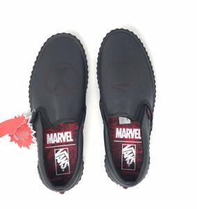 fd3f02eb3fd Vans Marvel Black Widow Classic Slip On Women s 7 Skate Shoes New ...