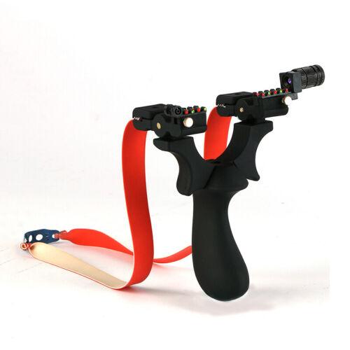Resin Slingshot Hunting Black Catapult LED Light High Precision Shooting