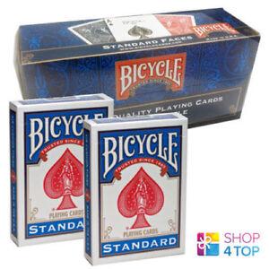 12-DECKS-BICYCLE-RIDER-BACK-NO-FACE-BLAU-ZAUBERTRICKS-BOX-CASE-USPCC-NEU