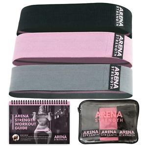 3PK tissu bandes de résistance des jambes /& Butt Arena Force Booty tissu bandes