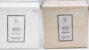 Wamsutta-Memory-Foam-400-Thread-Count-Sheet-Set-Size-King-White-Ivory