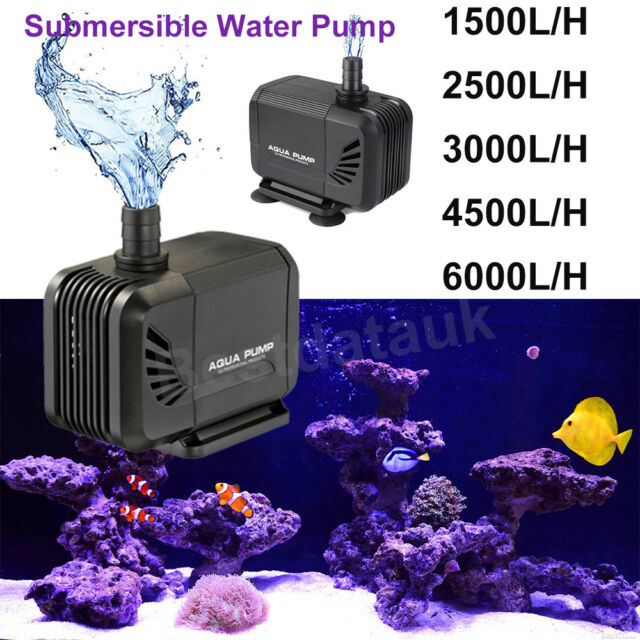 New Water Pump Submersible Fish Tank Aquarium Pond Fountain Spout Feature Pumps