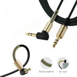 3-5mm-AUX-Zusatzkabel-Car-Audio-Stereo-Kopfhoererbuchse-rechtwinklig-Kabel-H6S6