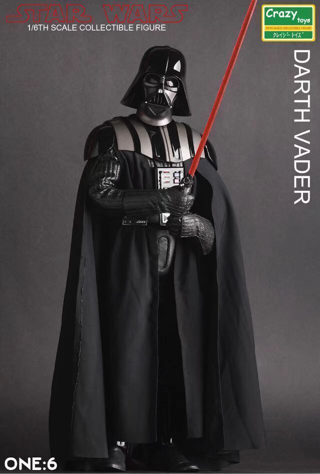 CRAZY TOYS STAR WARS DV 1/6TH SCALE COLLECTIBLE DARTH VADER ACTION FIGURE NIB
