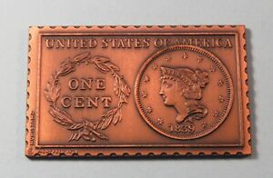 1839 United States Liberty Head Braided Large Cent Numistamp Medal Coin 1978