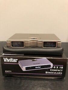 Rare-Vivitar-Compact-Binoculars-6x18-Vintage-Film-Traveler
