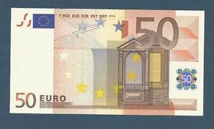 2019 DernièRe Conception Billet 50 Euro - Allemagne (j.c Trichet) 2002 - G036b2 - X78054734513 Neuf