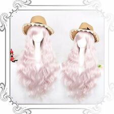 Harajuku Cute Girls Lolita Wig Light Pink Curly Wave Full Cosplay Long Hair Wigs
