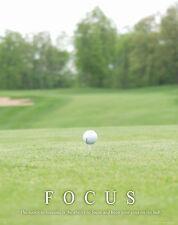 Golfing Motivational Poster Art Print Golf Balls Shoes Clubs Tiger Woods  MVP287