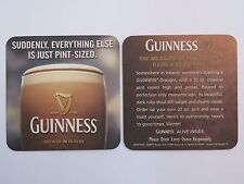 Beer Collectible Coaster ~*~ GUINNESS Stout ~ Everything Else is Just Pint-Sized