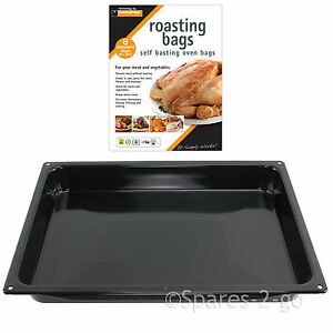 Large-Enamel-Roasting-Tin-Oven-Baking-Tray-Deep-Non-Stick-Dish-Pan-Basting-Bags