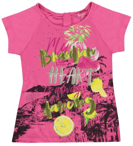 "Pampolina ® Fille T-Shirt Shirt PINK /""Rio Rio/"" 86-140 S 2017 NOUVEAU!"
