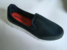 Womens Heavenly Feet Maxi Leisure Slip on Boat Shoe Loafer Moc Flat Navy Size 40