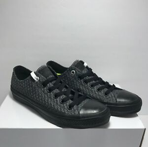 Converse-Womens-Size-8-5-Lunarlon-Knit-CTAS-II-Low-Textile-Black-Shoes-Sneaker