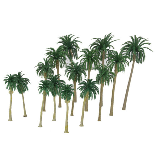 130pcs Multi Gauge Model Coconut Palm Trees Train Railway Scenery Layout
