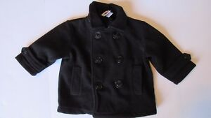 098e89c6739c Infant Boys Good Lad Black Pea Coat Size 18 Months Anchor Buttons ...