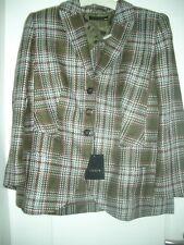 Lujo Escada Couture landhaus blazer caza verde tweed Karo 42/44 1180,- Golf Club
