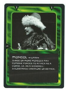Doctor-Who-Black-Border-CCG-Creature-Card-Mongol-Common-Card-Good-Condition