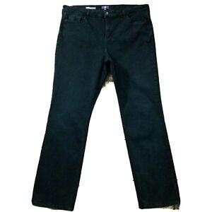 NYDJ-Womens-Jeans-size-22W-Dark-Wash-Straight-Leg-x32-034-in-Slimming-Cotton-Stretch