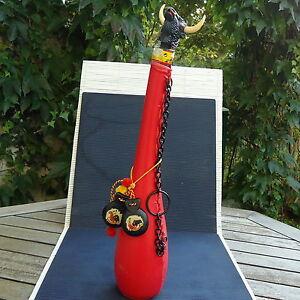 Espagne-Bouteille-Decoree-Collection-Castagnettes-Taureau-49-x10-Cm-1-120-Kgs
