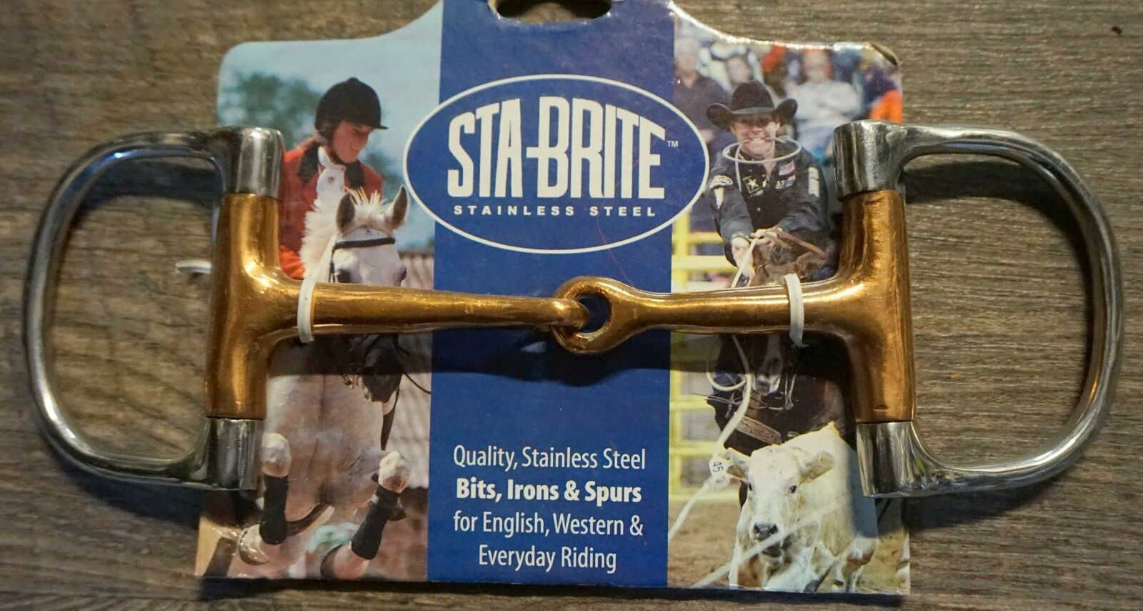 Sta Brite 5   Stainless Steel Copper Mouth Racing Dee Ring Snaffle Bit  enjoying your shopping